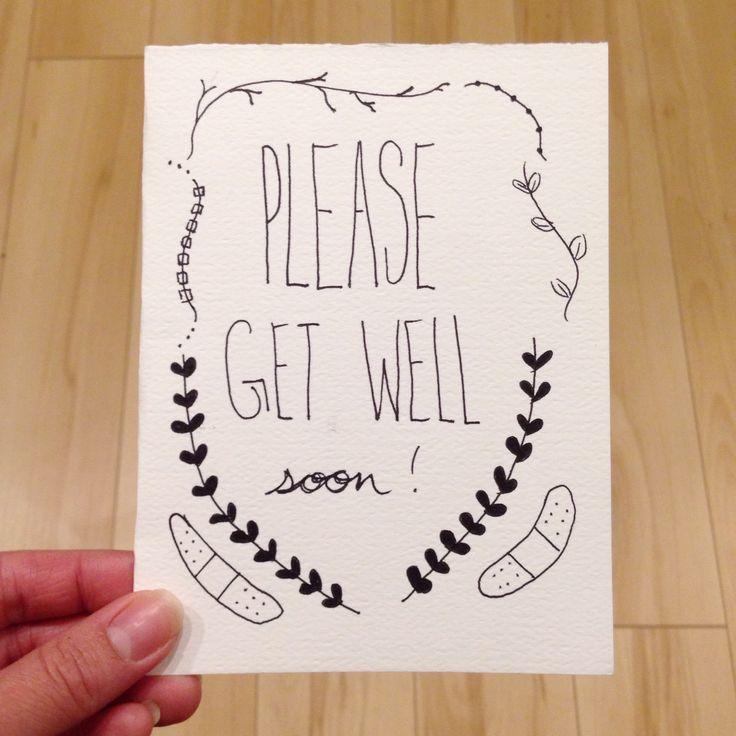 PLEASE GET WELL SOON! // greeting card for your illest peeps