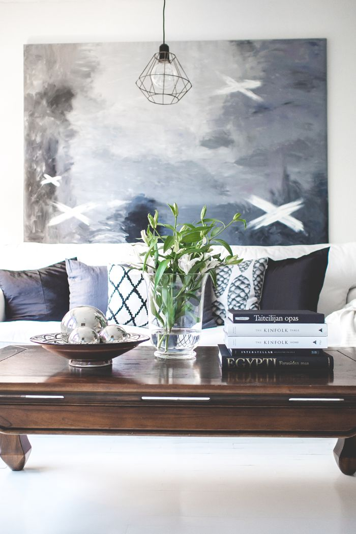 KOTONA JA KAUKOMAILLA - scandinavian interior / living room / finnish homes