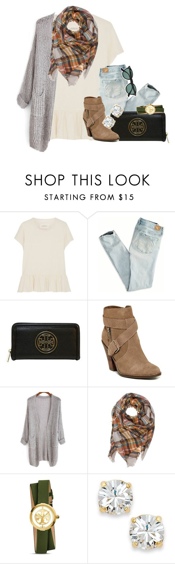"""""""the fosters is so good!!!!"""" by thefashionbyem ❤ liked on Polyvore featuring The Great, American Eagle Outfitters, Tory Burch, Dolce Vita, Kate Spade, Ray-Ban, women's clothing, women, female and woman"""