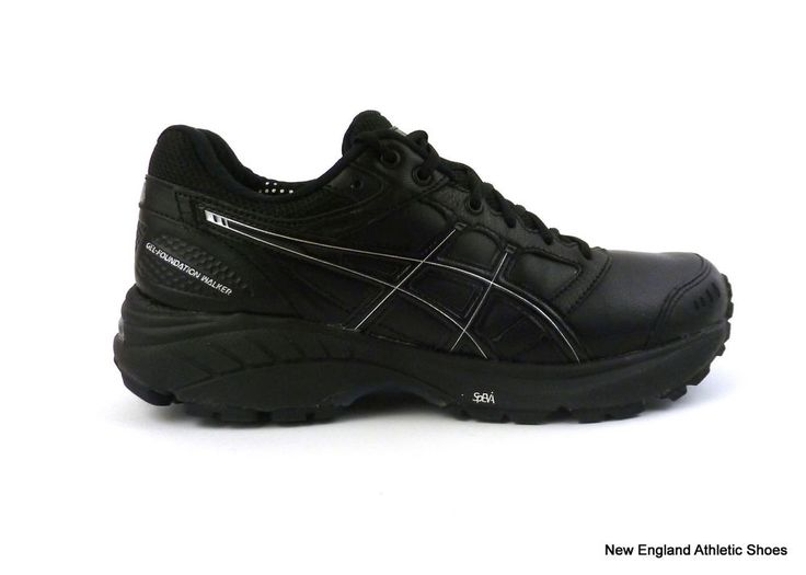 Asics women's Gel-Foundation Walker 3 shoes sneakers size 6 Black Onyx  Silver