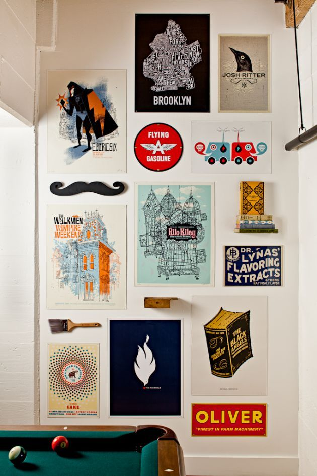2D + 3D wall decor #designcandy