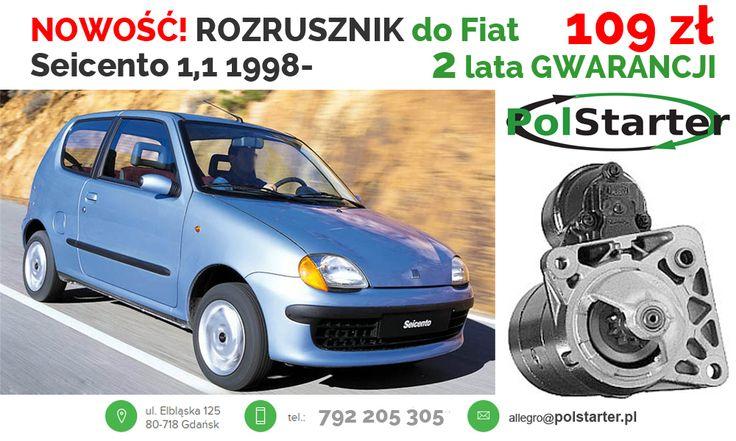 ⚫ NOWOŚĆ w firmie POLSTARTER! Regenerowany ROZRUSZNIK  do FIATÓW: Seicento, Palio, Panda, Siena oraz Strada!  ⚫ Nasze pozostałe aukcje w serwisie allegro:  ➜ http://allegro.pl/listing/user/listing.php?us_id=26261890&order=m  ⚫ Odwiedź także naszą stronę i sklep internetowy: ➜ www.polstarter.pl ➜ www.sklep.polstarter.pl  ⚫ KONTAKT:  792 205 305 ✉ allegro@polstarter.pl  #rozrusznik #rozruszniki #alternator #alternatory #regenerowany #FiatPalio #Seicento #Panda #Siena #Strada