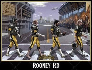 The Big Homies, Joe Greene #75, Jack Lambert #58, Franco Harris #32 and Terry Bradshaw #12