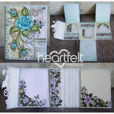 Heartfelt Creations - Blushing Rose Mini Book Project