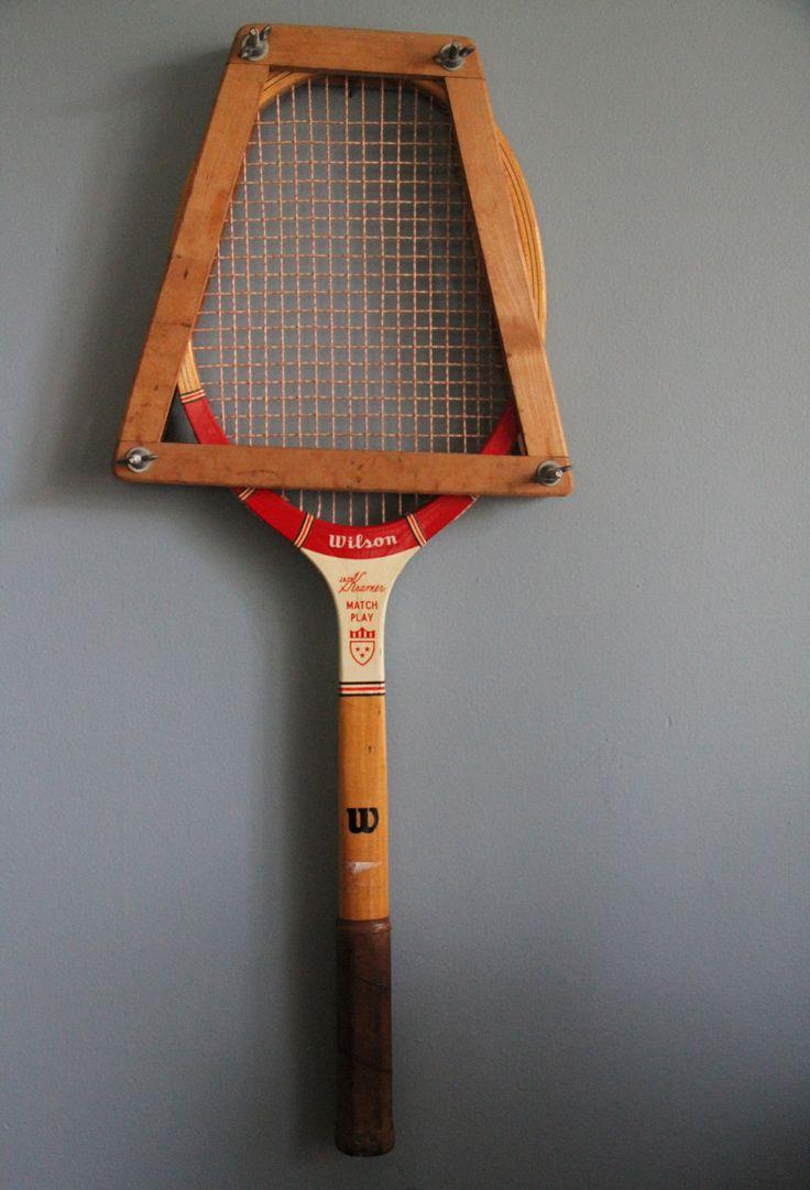 Vintage Tennis Racquets. $6.00, via Etsy.