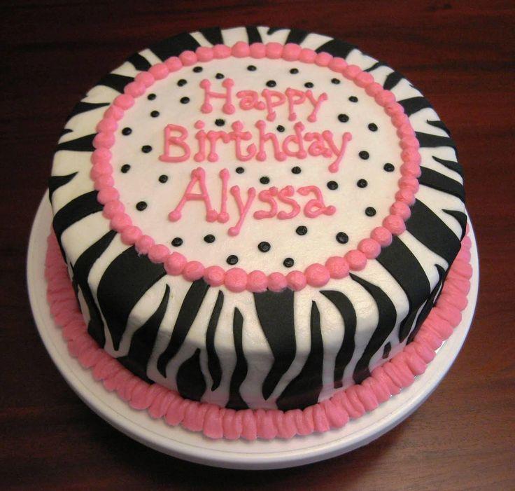 Hot Pink Zebra Birthday Cake — Some Enjoyable Pictures : Zebra ...