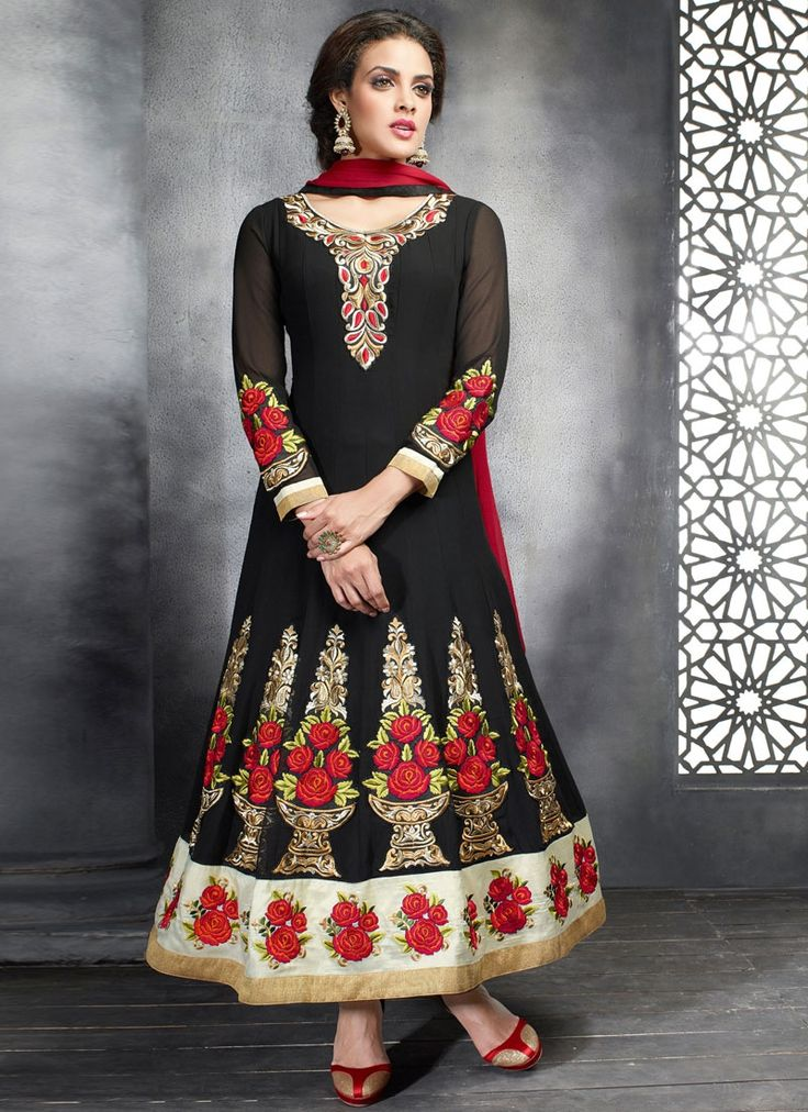 Astonishing Black Georgette Designer Anarkali Suit  Product ID : 8532 | Worldwide Delivery+7 day return policy  Follow us on @sareebuzz whatsapp on +91 9974111222 Visit : http://www.sareebuzz.com/salwar-kameez/astonishing-black-georgette-designer-anarkali-suit-8532  #anarkali #blackanarkali #salwar #salwarsuit #style #georgette #dupatta #salwarlove #newdesigns #designerwear #ethnic #celebrity #outfits #lovesalwars #instagood #trendy #fashion #desilook #onlineshopping #weloveshopping