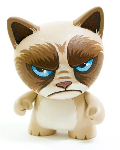 Grumpy Cat Munny #meow make your own--customizable kidrobot munny toys available at www.lazydazeco.com!
