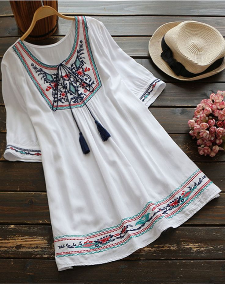 Free shipping & Easy Return + Refund! You are going to rock this Embroidered Tunic Top! It's casual yet oh so chic! Pair it with leggings to catch more fashion wave.