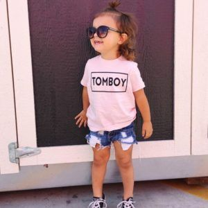awesome Tomboy // Girl's Graphic Long Sleeve Tee by http://www.polyvorebydana.us/little-girl-fashion/tomboy-girls-graphic-long-sleeve-tee/