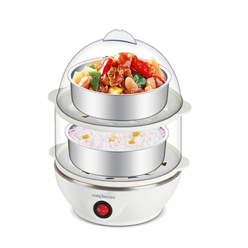 #MULTIFUCTION #DOUBLE #LAYER ELECTRIC #EGG #BOILER #EGG #COOKER #STEAMER