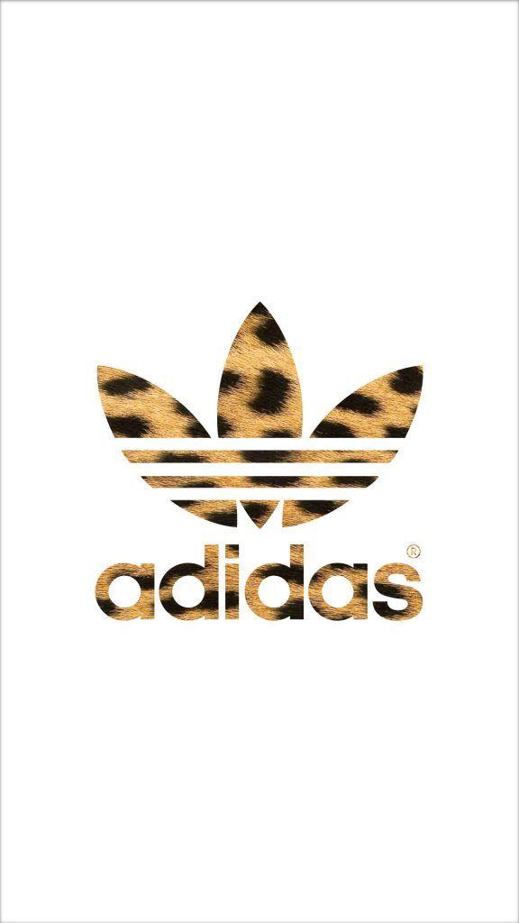 [ヒョウ柄]アディダスロゴ/adidas Logo1iPhone壁紙 iPhone 5/5S 6/6S PLUS SE Wallpaper Background