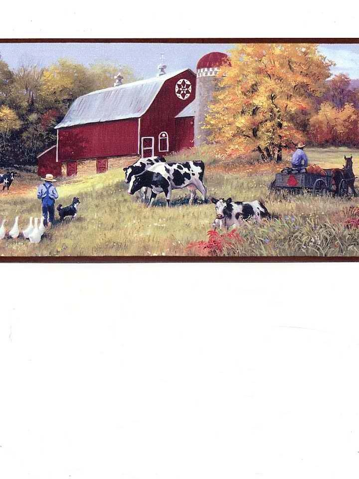 Interior Place   Cow Pasture Wallpaper Border, $27.00 (http://www.
