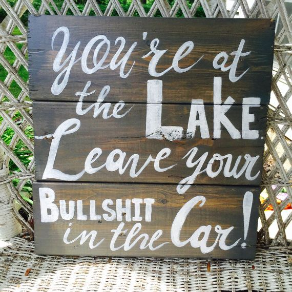 Rustic Lake House Sign; Personalized Lake Rules Wall Hanging; Custom Pallet Wood Sign for Vacation Home; Welcome to the Lakehouse; Lake Hous