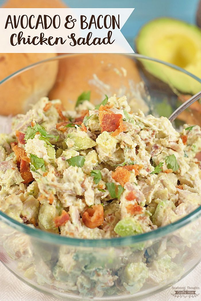 The best chicken salad recipe ever! You've got to try this Avocado and Chicken…