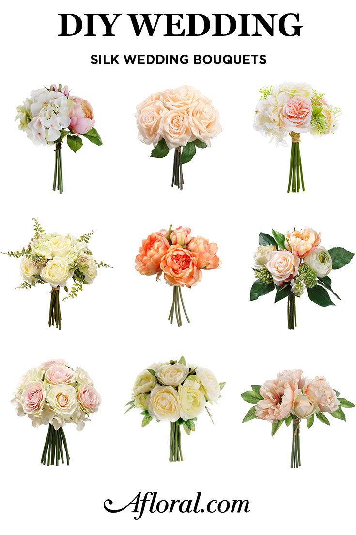 Diy Wedding Easy Wedding Flowers These Pre Made Silk Flower Bouquets Are Perfect For Br Silk Wedding Bouquets Artificial Wedding Bouquets Silk Flowers Wedding