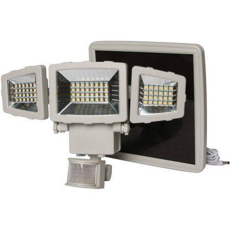 Mainstays 1500 Lumen Solar Security Light, White