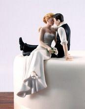 gratis verzending bruid en bruidegom toppers paar beeldje bruidstaart topper voor bruidstaart decoratie benodigdheden taart staan f-0019(China (Mainland))