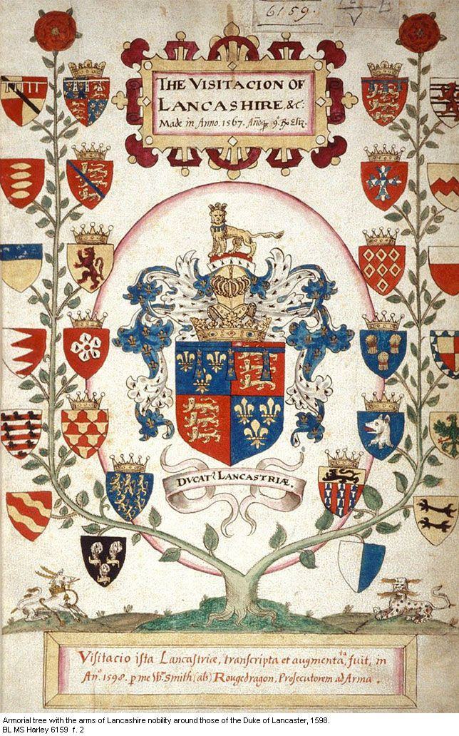 The Arms of the Duchy of Lancaster  Bretonnian roll of arms