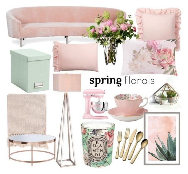 """Spring room"" by caro-aistrup ❤ liked on Polyvore featuring interior, interiors, interior design, home, home decor, interior decorating, Pottery Barn, JAlexander, Ted Baker and Surya"