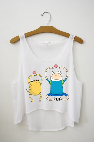 Finn and Jake Crop Top