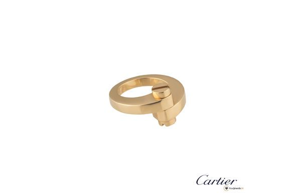 Cartier Rose Gold Menotte Ring, Damenring, classic jewelry, work outfit, office chic