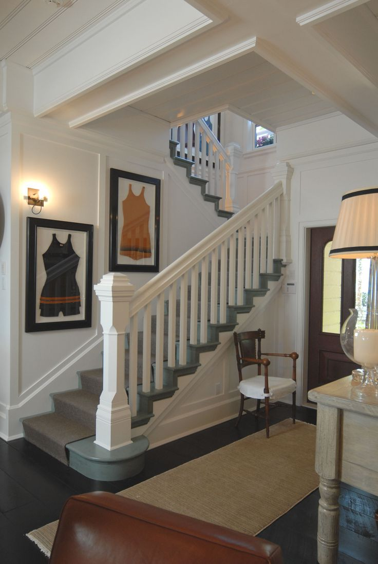 Best Entry Entryway Foyer Beach House Staircase Stair 400 x 300