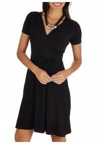 edit | Cross-over Knit Dress Black