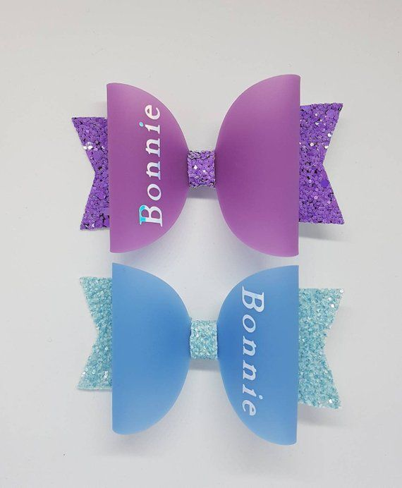 small girl hair clip pin bow Barrette TODDLER Dog 43 blue purple pink white