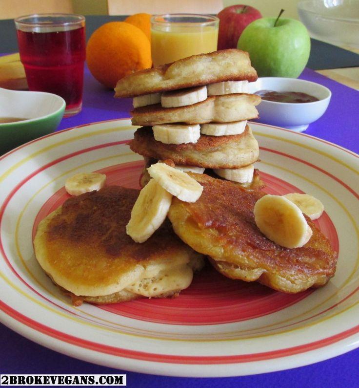 Gluten Free Vegan Buttermilk Pancakes - 2 Βroke Vegans: http://2brokevegans.com/gluten-free-vegan-buttermilk-pancakes/