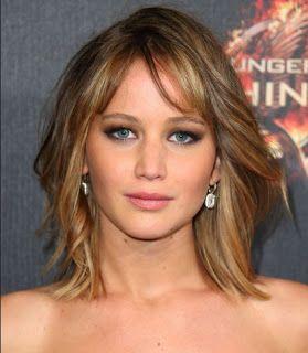 Model Rambut Bob Jennifer Lawrence