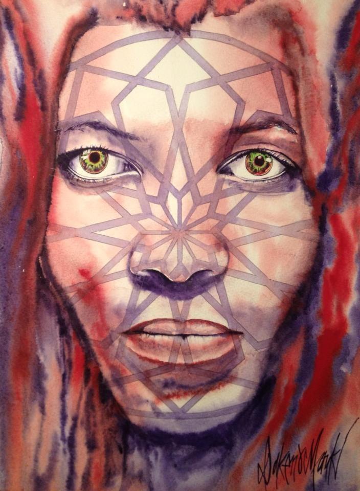 Urizen  watercolour  by Dakeno Mark  2014