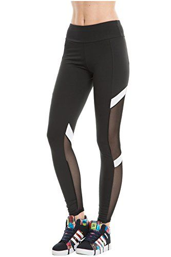 CHIC DIARY Collant de Sport Fitness Yoga Danse Slim Legging Pantalon  Stretch Longue Amincissant Gaze Transparent pour Femme Fille(Noir-S M(EU  32-38)) 267951e4da8