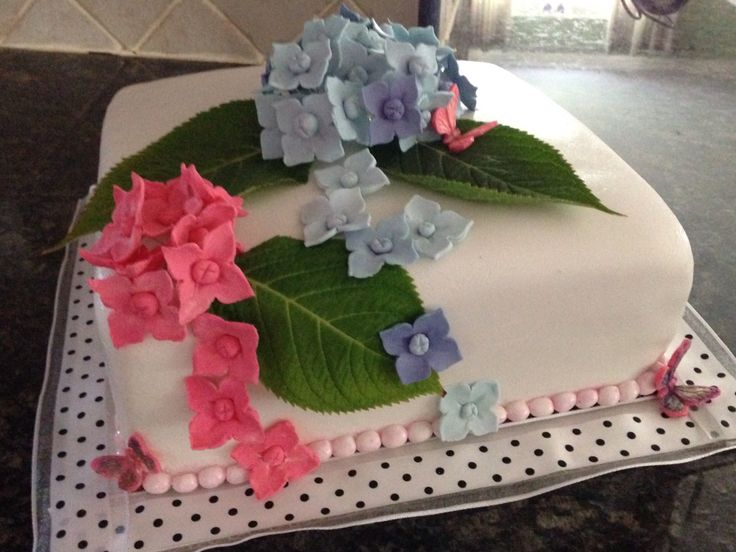 75 th hydrangea birthday cake