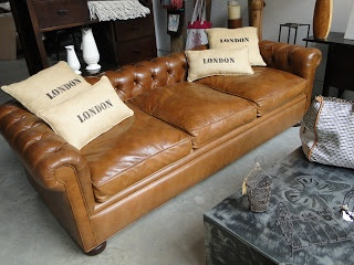 Sillon Chesterfield en cuero