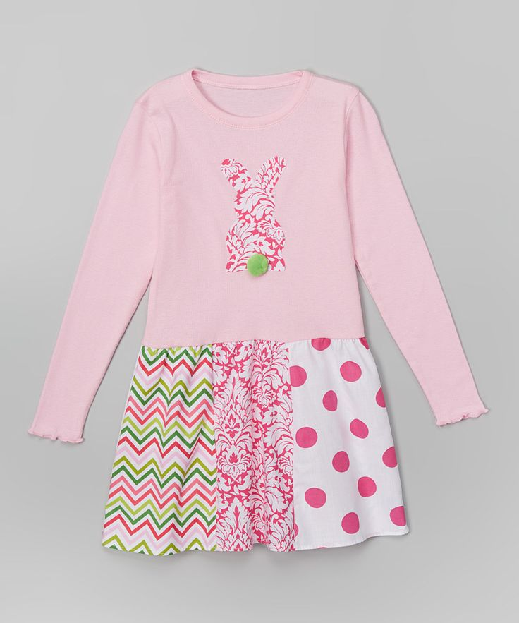 Look at this Pink Damask Bunny Libby Ann Dress - Toddler & Girls on #zulily today!