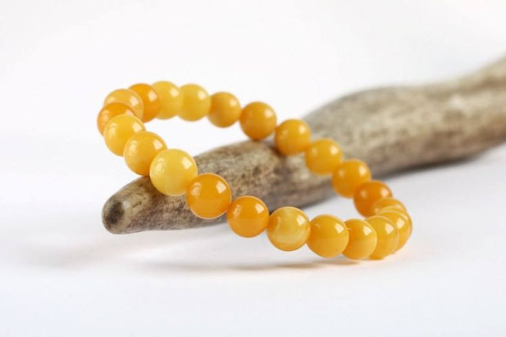 Genuine Baltic Amber Bracelet, Egg Yolk Amber Bracelet, Summer Fashion Jewelry, Gold Sunny Amber Bracelet, 100% Natural Organic Amber by BorealAmber on Etsy