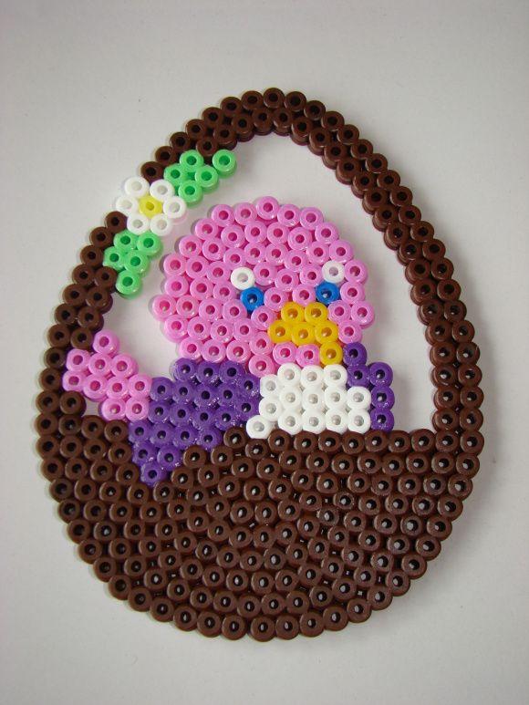 Easter Basket Hama Perler Beads
