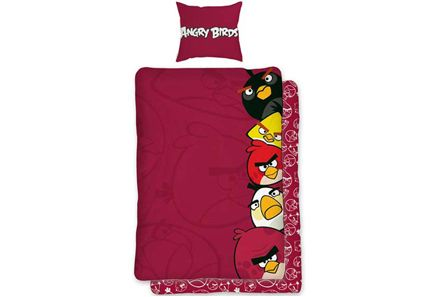 Angry Birds - Angry Birds AB040 pussilakanasetti 150 x 210 cm