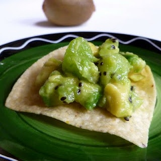 Sneaky Kiwi Guacamole - an unusual pairing that works amazingly well.