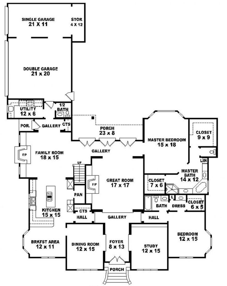 #653920 - Two story 5 bedroom, 4.5 bath traditional style house plan : House Plans, Floor Plans, Home Plans, Plan It at HousePlanIt.com