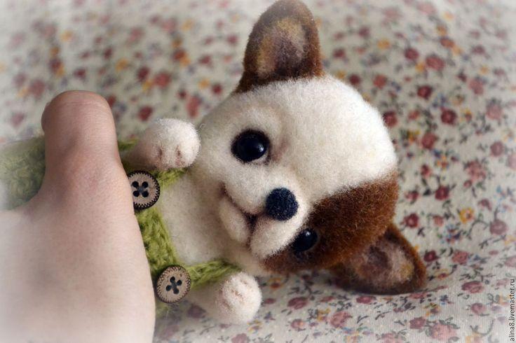 Купить Щеночек Юко. Игрушка из шерсти - белый, чихуахуа, собака, собачка, собачка игрушка, щеночек