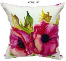 Mezzo Floral painted cushion cover MZ 208- 15C