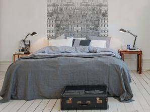 tete de lit papier peint au fil des couleurs