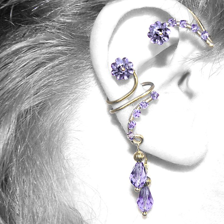 Purple Ear Wrap and Cuff Set v6 by YouniquelyChic.deviantart.com on @deviantART