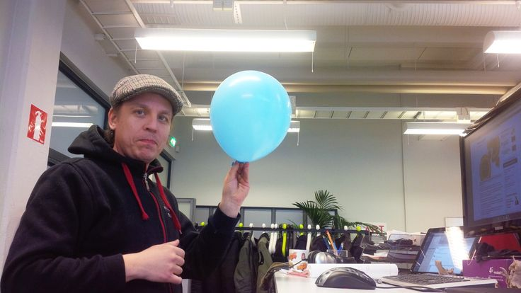 Wish it was Friday again? Re-live ‪#‎PerjantaiPallo‬ (‪#‎FridayBall‬), as it's known in the Kyy lair! ‪We have balloons! #‎FridayBalloon‬ ‪#‎gamedev‬ ‪#‎fun‬