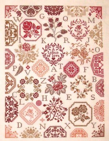 Rose Quaker - Cross Stitch Pattern