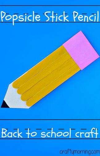 [DIY] Popsicle Stick Pencil Craft via @craftymorning0
