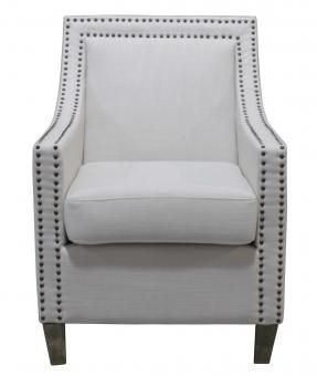 PETRA ARMCHAIR STUDDED. A Block and Chisel Product.