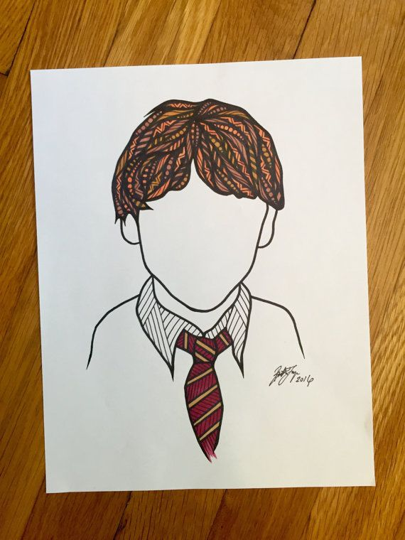 Its Ron Weasley! this print would be a gift for a Harry Potter lover